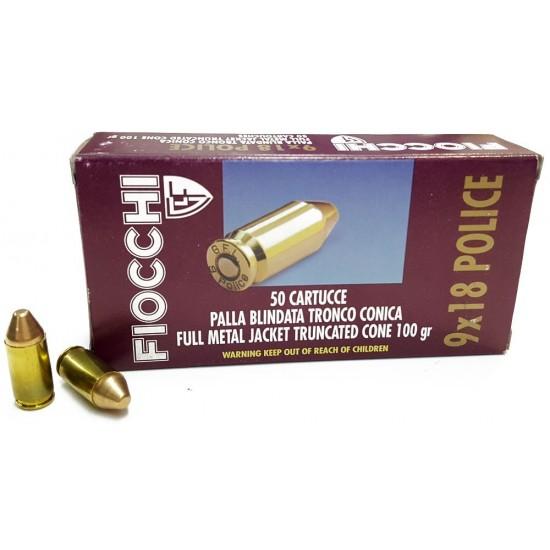 Munición FIOCCHI - 9x18mm....