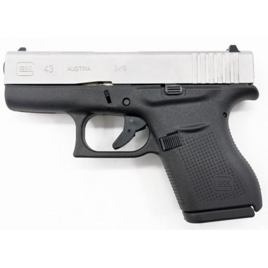 Pistola GLOCK 43 Silver - 9mm.